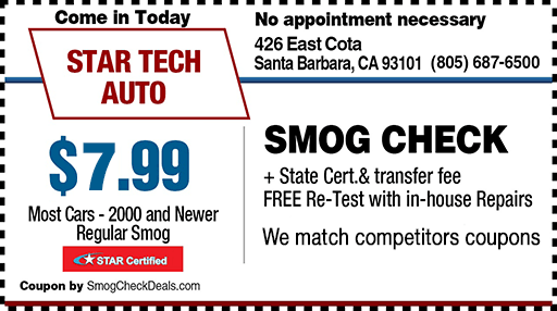 Smog coupon-Santa Barbara