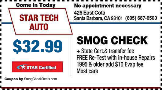 santa barbara - smog coupon